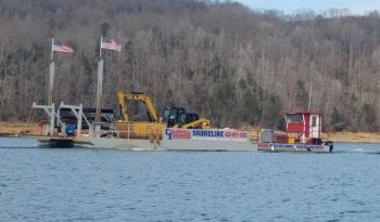 50' x 24' x 5' Sectional/Truckable Barge & Dredge full